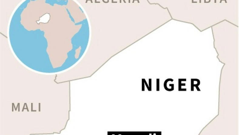 Map locating Maradi in southern Niger where ten soldiers were killed