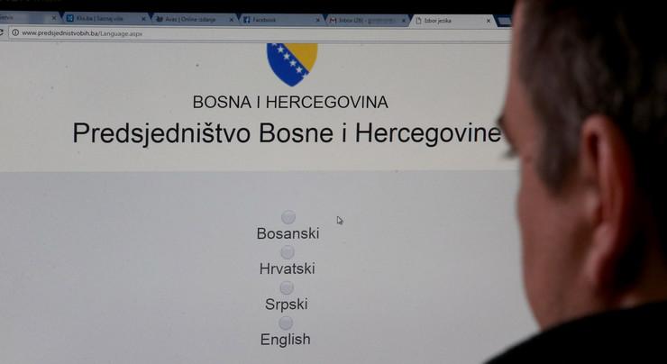 sajtovi institucija BiH odabir jezika