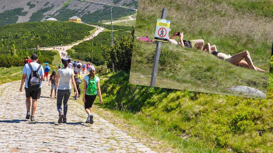 Turyści w Karkonoszach