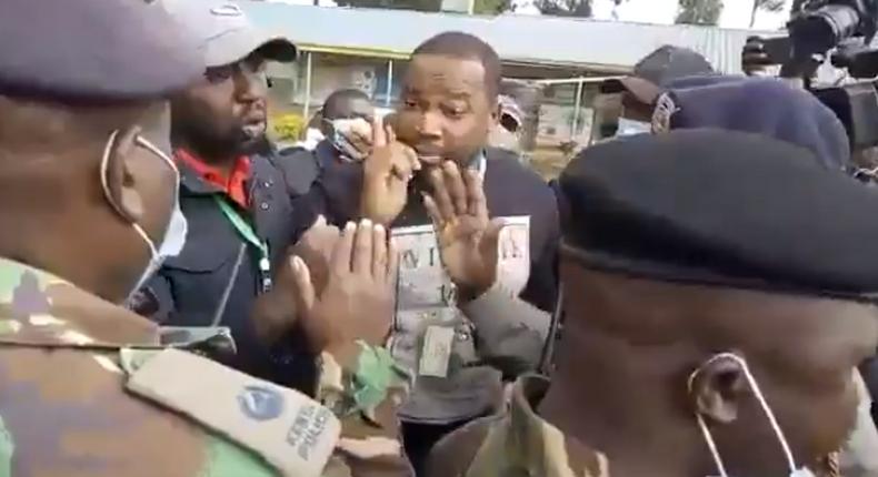 Tanga Tanga MPs during an altercation with police in Nakuru County