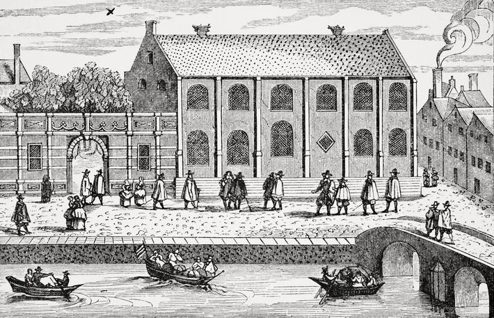 Leyden or Leiden University Holland after a contemporary drawing made circa 1614 From Science and Li