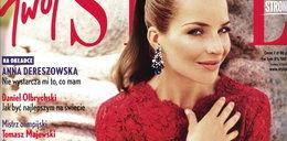 Dereszowska pozuje w czerwieni od Valentino