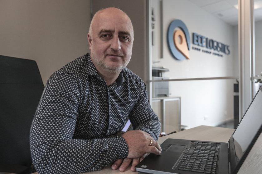 Wojciech Kozakiewicz, właściciel ECE Logistics z Zielonej Góry
