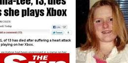13-latka zmarła na zawał. Grała w grę