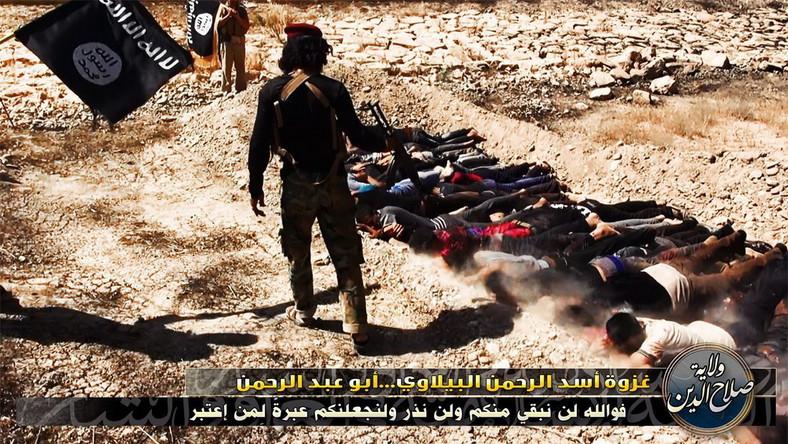 W Internecie pojawiły się zdjęcia egzekucji żołnierzy irackiej armii rządowej. Umieszczono je na stronach związanych z Islamskim Państwem Iraku i Lewantu - ugrupowania, które zajęło duże tereny w środkowym i północnym Iraku. Na zdjęciach, umieszczonych także na Twitterze, widać rebeliantów strzelających do leżących na ziemi mężczyzn w cywilnych ubraniach. Z zamieszczonych komentarzy wynika, że ludzie ci zostali zastrzeleni za to, że walczyli przeciwko sunnitom. Na innych zdjęciach widać zakrwawione ciała. Według źródeł dyplomatycznych w Bagdadzie zdjęcia są autentyczne, nie można jednak określić, ilu ludzi zostało zastrzelonych. Rzecznik irackiej armii Kassim al-Mussawi powiedział, że z analizy zdjęć wynika, iż zginęło około 170 żołnierzy.