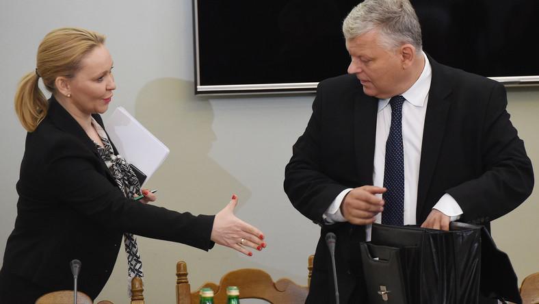 Andżelika Możdżanowska i Marek Suski