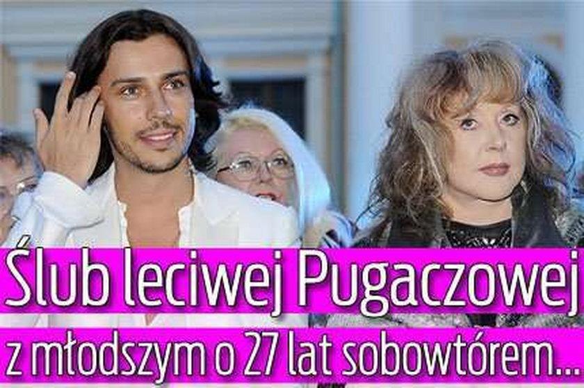 Ślub leciwej Pugaczowej z młodszym o 27 lat sobowtórem...