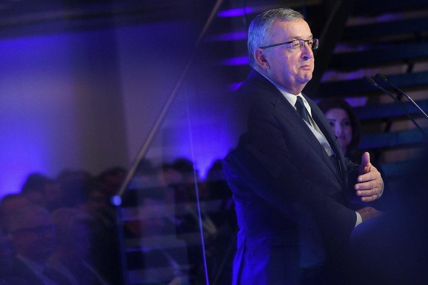 I Kongres Rozwoju Kolei 2019. Minister Infrastruktury Andrzej Adamczyk. Minister Infrastruktury Andrzej Adamczyk