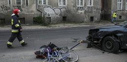 Samochód staranował rowerzystki. Jedna nie żyje