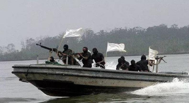 Sea pirates on waterways