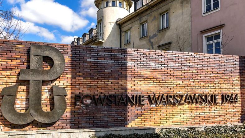 Fragment pomnika Powstania Warszawskiego