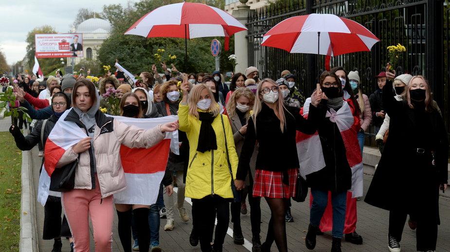 Sobotni protest kobiet w Mińsku