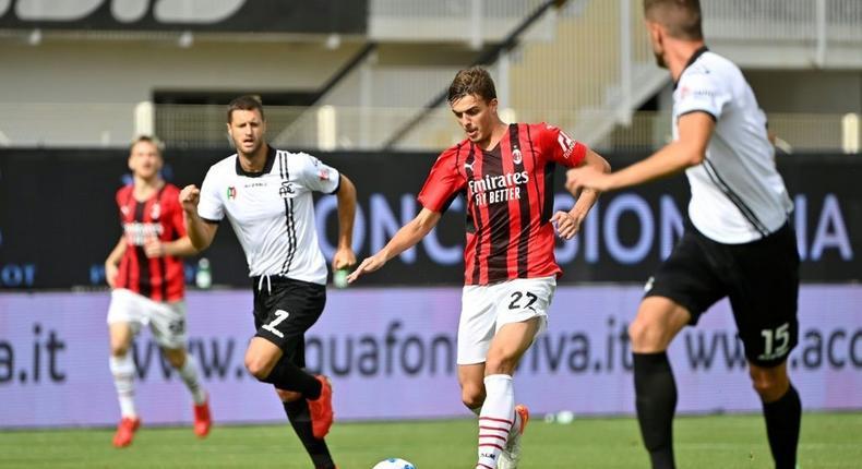 Daniel Maldini scored on his first Serie A start Creator: Alberto PIZZOLI