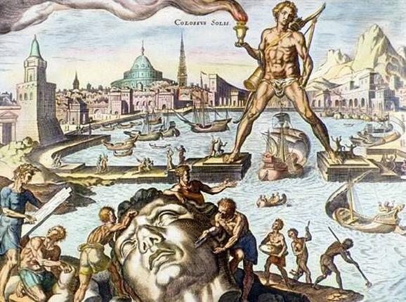 Kolos sa Rodosa, gravira iz 16. veka Martina Hemskerka, iz njegove serije o Sedam svetskih čuda