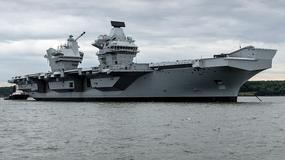HMS Queen Elizabeth - najnowocześniejszy lotniskowiec Royal Navy... przecieka