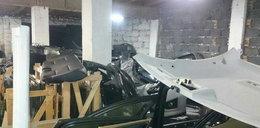 Znaleźli kradzione części samochodowe