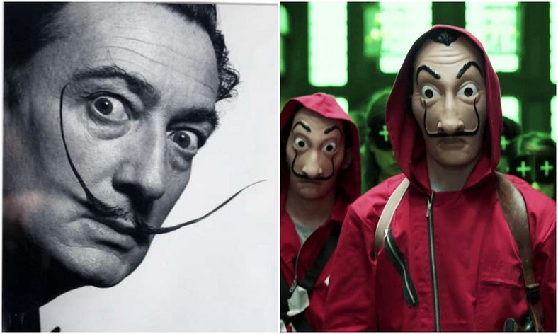 Spanish artist, Salvador Dalí was referenced in 'Money Heist'for his anti- modern capitalist views