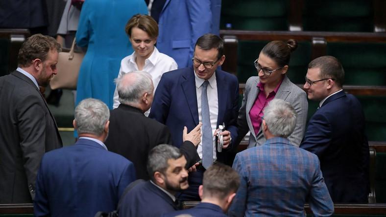 Mateusz Morawiecki, Łukasz Szumowski, Jadwiga Emilewicz, Jarosław Kaczyński