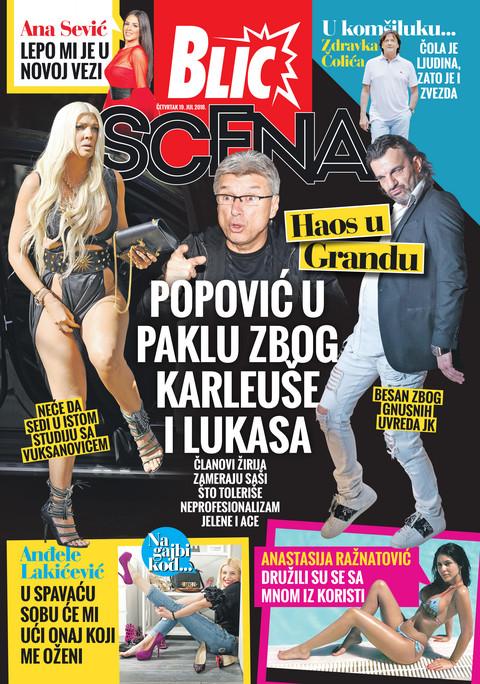 Nova Blic Scena donosi sve o paklu koji prolazi Saša Popović zbog Jelene Karleuše i Ace Lukasa!
