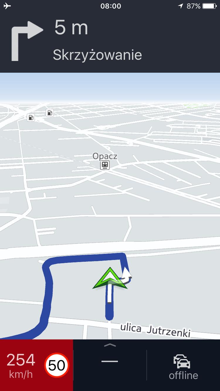 Here WeGO - taka prędkość w trybie symulacji lub.. lotu