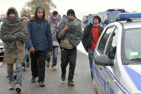 Migranti su prepešačili od Beograda do Šida