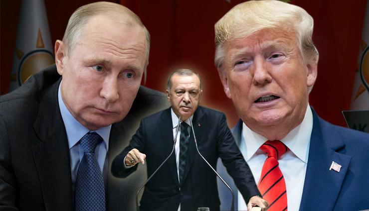Erdogan Tramp Putin KOMBO foto RAS Tanjug AP, Anadolija, Halil Sağırkaya, epa jim lo scalzo