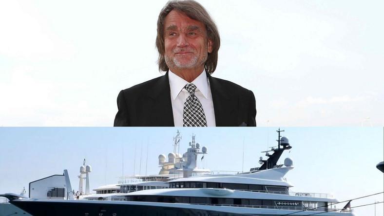 Jacht wyposażony jest m.in. w basen, salę kinową, lądowisko dla helikopterów...