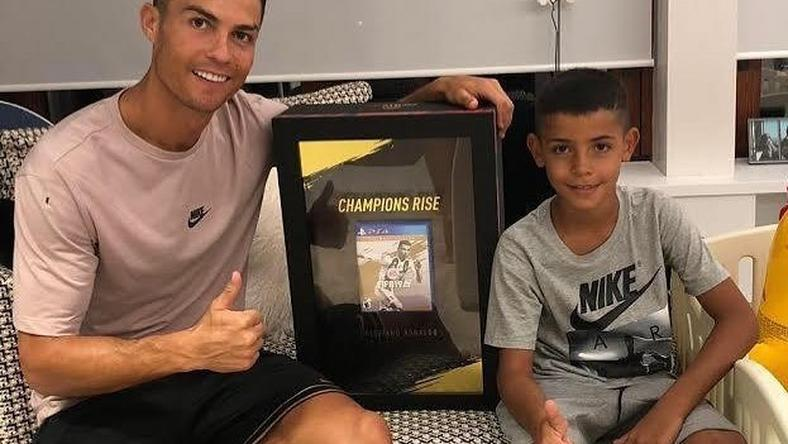 cristiano ronaldo juventus star says his son aims to be better than
