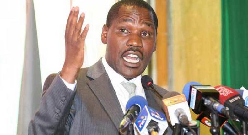 Trade CS Peter Munya during a past media briefing