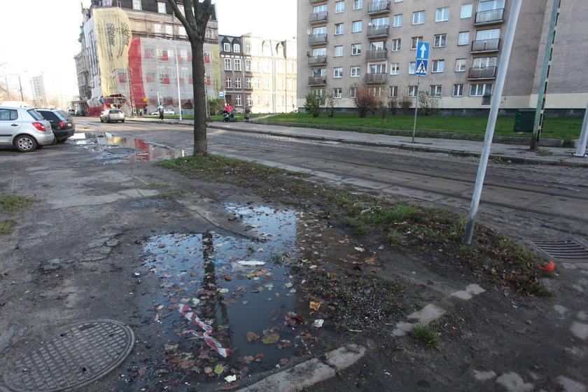 ulice i chodniki Dolnego Miasta w Gdańsku