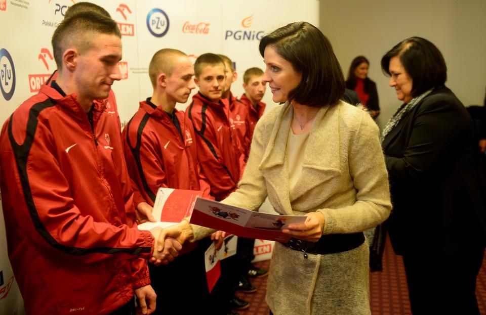 Minister sportu i turystyki Joanna Mucha, fot. PAP/Bartłomiej Zborowski