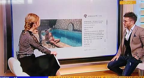 """UPS! Seksi fotografija Saše Kovačevića """"izletela"""" u jutarnjem programu! On se postideo, a voditeljkin komentar POBEDIO!"""