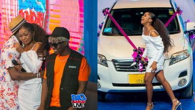 Tears of Joy as Diamond gifts WCB signee Zuchu brand new car on Live TV (Photos)