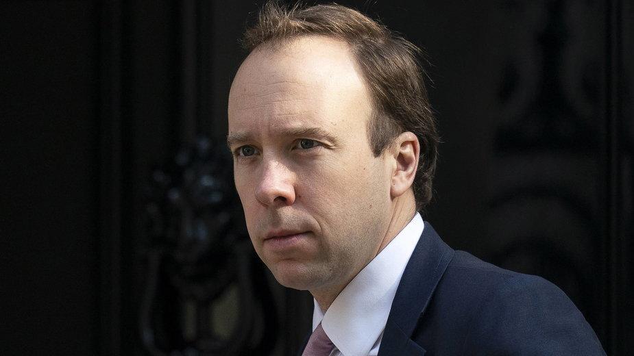 Matt Hancock, minister zdrowia Wielkiej Brytanii
