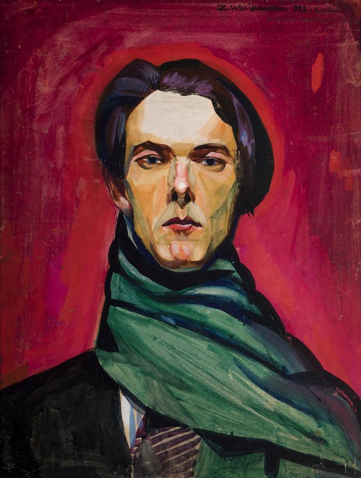 Zygmunt Waliszewski, Autoportret, 1922, tempera na tekturze, fot. MNK
