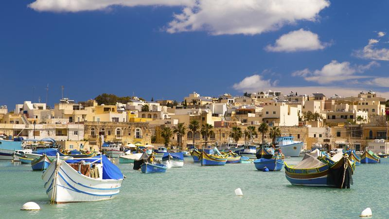 Port w Marsaxlokk, Malta