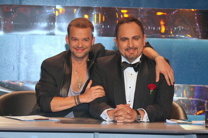 "Michał Piróg i Agustin Egurrola na planie ""You can dance""."