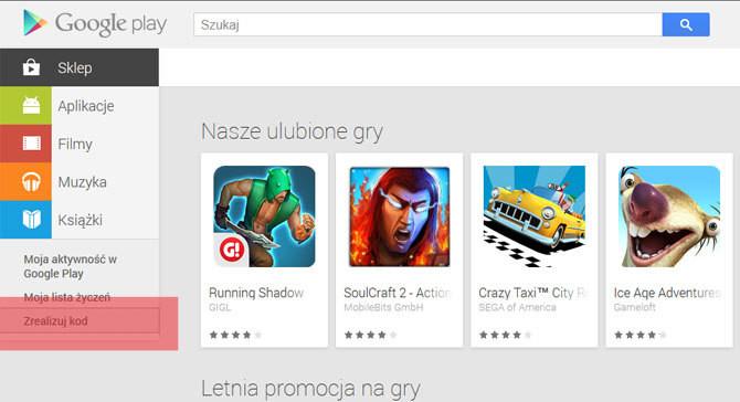 Aplikacje Ksiazki I Filmy Na Doladowanie Karty Upominkowe Google