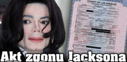 Akt zgonu Jacksona dla każdego
