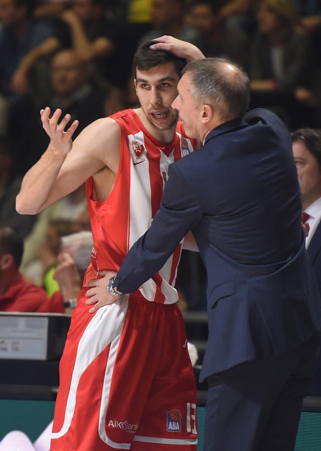 Ognjen Dobrić i trener Zvezde Milan Tomić