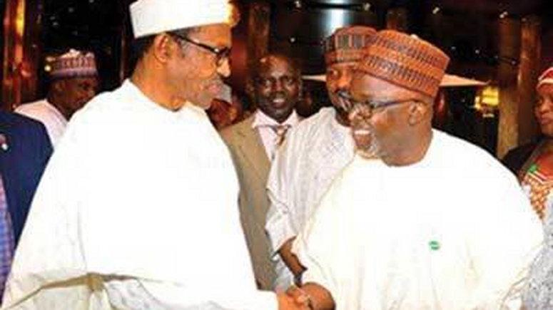 President Muhammadu Buhari congratulates Amaju Pinnick on FIFA Council election