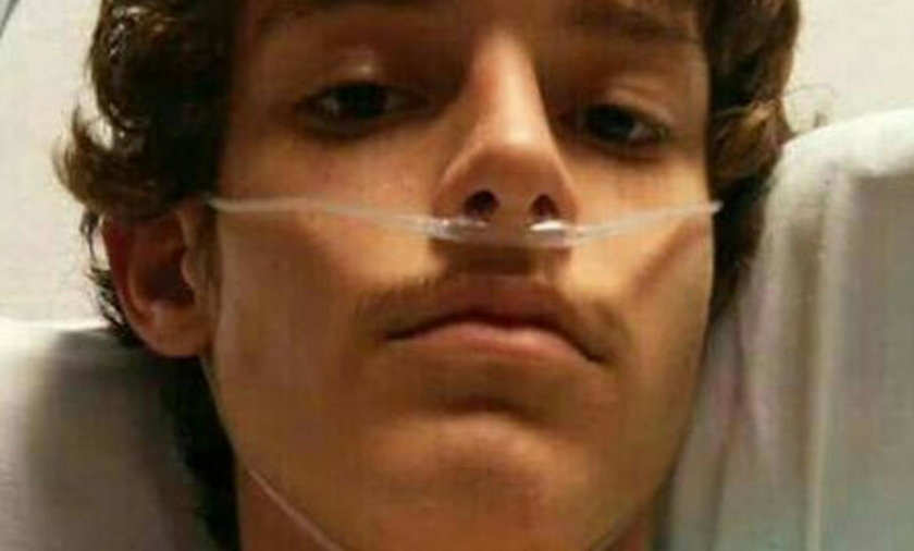 Hunter Brady usłyszał od lekarza, że ma grypę. Teraz walczy o życie