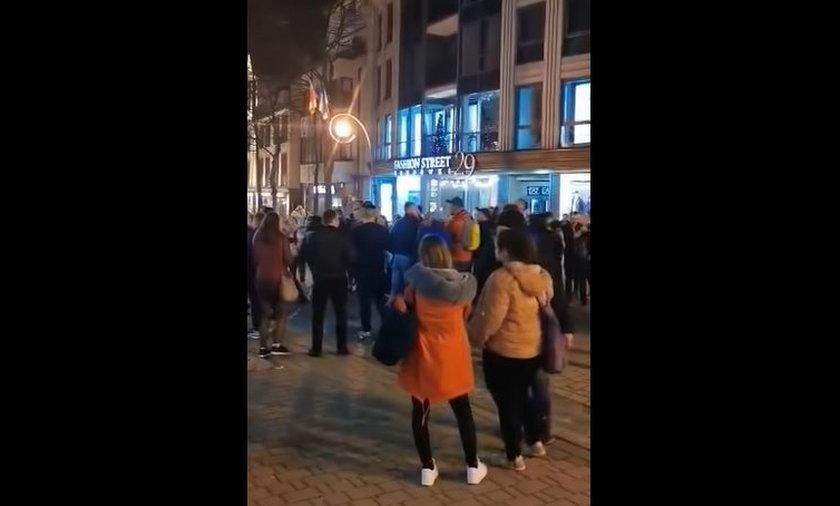 Skandaliczne sceny na ulicach Zakopanego.