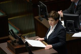 Szydło w Sejmie: Ministrom rządu PiS należały się nagrody za ciężką, uczciwą pracę