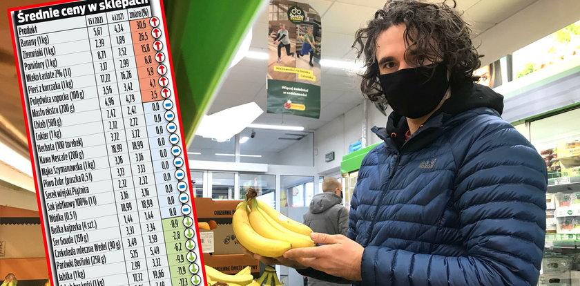 Koszyk Faktu. Alarm! Ziemniaki i banany coraz droższe!