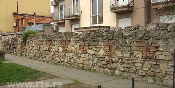 Deo zida u Vrtlarskoj ulici