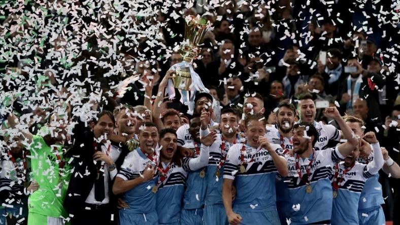 Lazio booked their ticket to the Europa League by lifting the Coppa Italia.