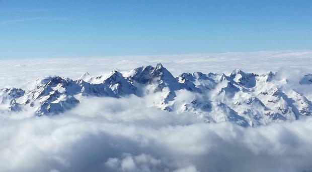 Skąpane w chmurach szczyty