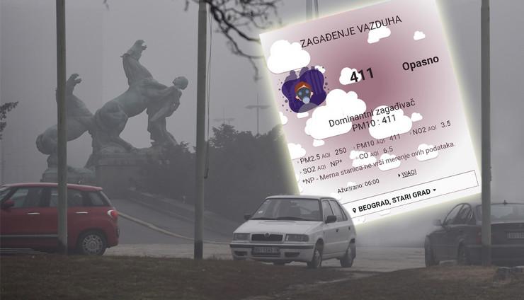 BG zagadjenje foto RAS Snezana Krstic