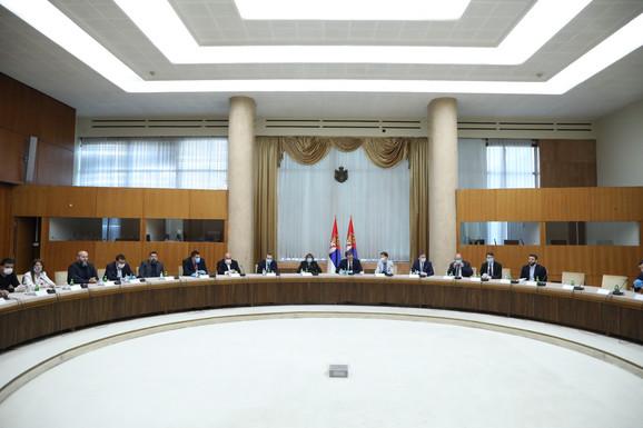 Sastanak predsednika Srbije Aleksandra Vučića sa predstavnicima stranaka koje će učestvovati na izborima
